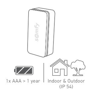 Intrusion sensor battery powered and suitable for in and outdoor use